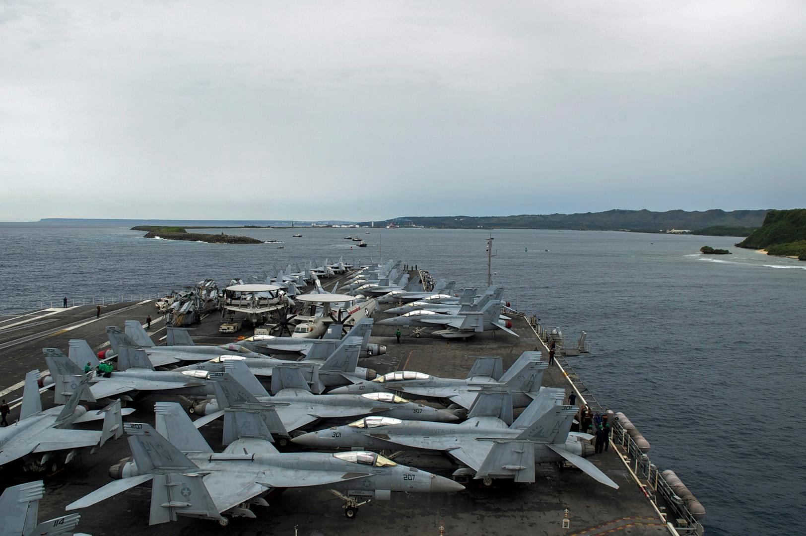 Ronald Reagan Strike Group Arrives in Guam following Valiant Shield 2018