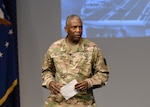 DLA Director Army Lt. Gen. Darrell Williams speaks to participants at DLA Industry Day, Sept. 19, 2018, where he emphasized the need for increased collaboration between DLA and industry to increase readiness. Photo by Teodora Mocanu