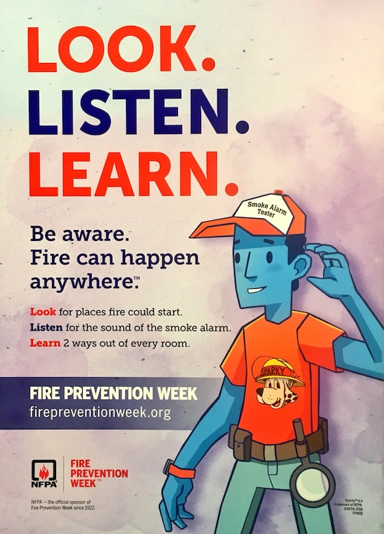 """Look. Listen. Learn. Be aware. Fire can happen anywhere."""