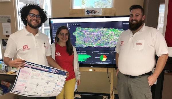 GIS: 'Front page to Puerto Rico Power Mission' - Hurricane Maria
