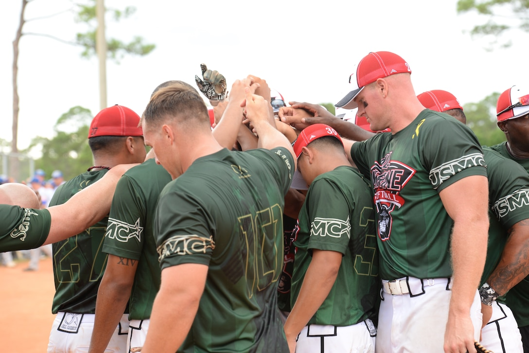 Marines celebrate their first gold medal victory since 2000