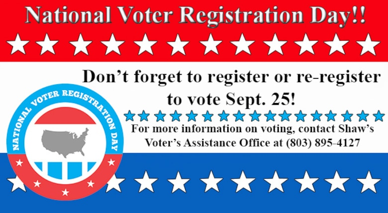 National Voter Registration Day is held annually on the fourth Tuesday of September, with this year's being held on Sept. 25.