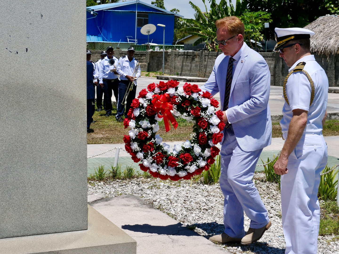 Under Secretary of the Navy lays wreath for Sailors, Marines in Tarawa