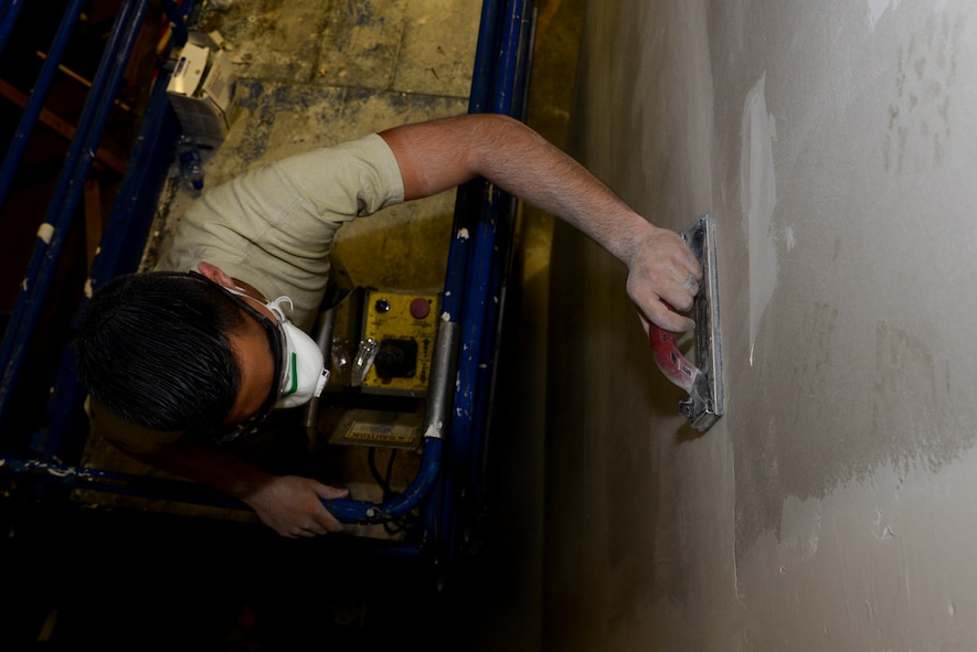 The flight builds, repairs and maintains structures on the installation