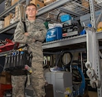 "Airman 1st Class Tomas Chebook, 375th Civil Engineer Squadron heating ventilation and air conditioning apprentice, is this week's Showcase Airman. Chebook is responsible for the maintenance and repair of the HVAC systems for 89 critical facilities worth $1.3 billion dollars. He led a team of four Airmen installing 300 feet of thermostat wire at the Army and Air Force Exchange Service, preventing work stoppage of a $90,000 HVAC controls project. Additionally, Chebook was first on the scene for an emergency air conditioning outage and quickly assessed the faults. His actions not only minimized downtime, but averted permanent equipment damage to $3.3 million in Land Mobile Radio assets used by first responders and air traffic control. Chebook also completed two Community College of the Air Force courses and committed 30 hours to the Big Brothers and Sisters of Eastern Missouri. Furthermore, Chebook volunteered to lead the setup and teardown portions of the Scott Chief's Group Steak Sale. He rallied for Airmen to support the event which reeled in $3,600 in donations. His ""can do"" attitude and enthusiasm was recognized by the Chiefs Group President who coined him on the spot."
