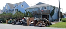 Damage caused by Hurricane Florence at Topsail Island, NC.