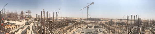 Construction continues on the almost one billion dollar  mega-project collectively known as Shield 5 in Qatar. The project has remained on track in part because of the District's use of cost schedule management to monitor progress.