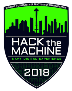 Hack the Machine Navy Digital Experience 2018 logo