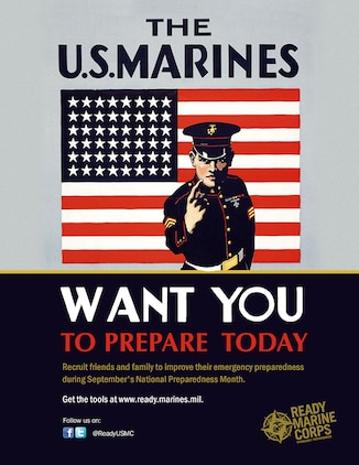 This graphic was created in support of Ready Marine Corps' 2017 National Preparedness Month outreach campaign.