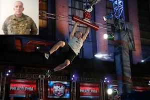 A soldier competes in American Ninja Warrior.