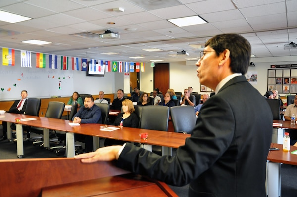 Arturo Pacheco-Vega, Ph.D, Professor for Engineering, Computer Science and Technology, California State University, Los Angeles commemorated Hispanic Heritage Month with a presentation on Hispanic traditions, culture and his life story to the USACE LA District workforce.