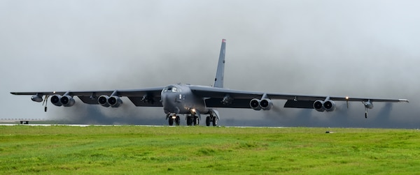 B-52 conduct missions over the South China Sea, Indian Ocean