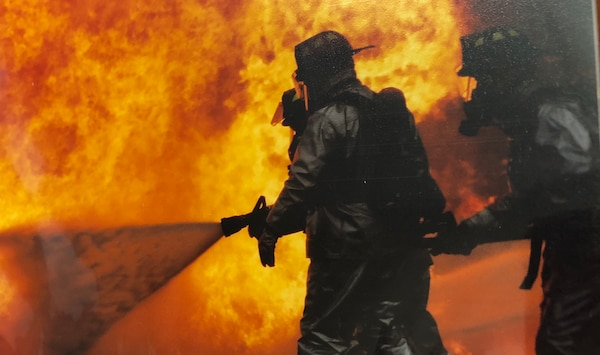 Firefighting Photograph