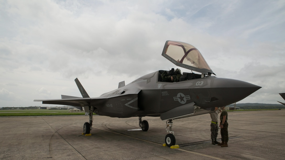 An F-35B Lightning II joint strike fighter.