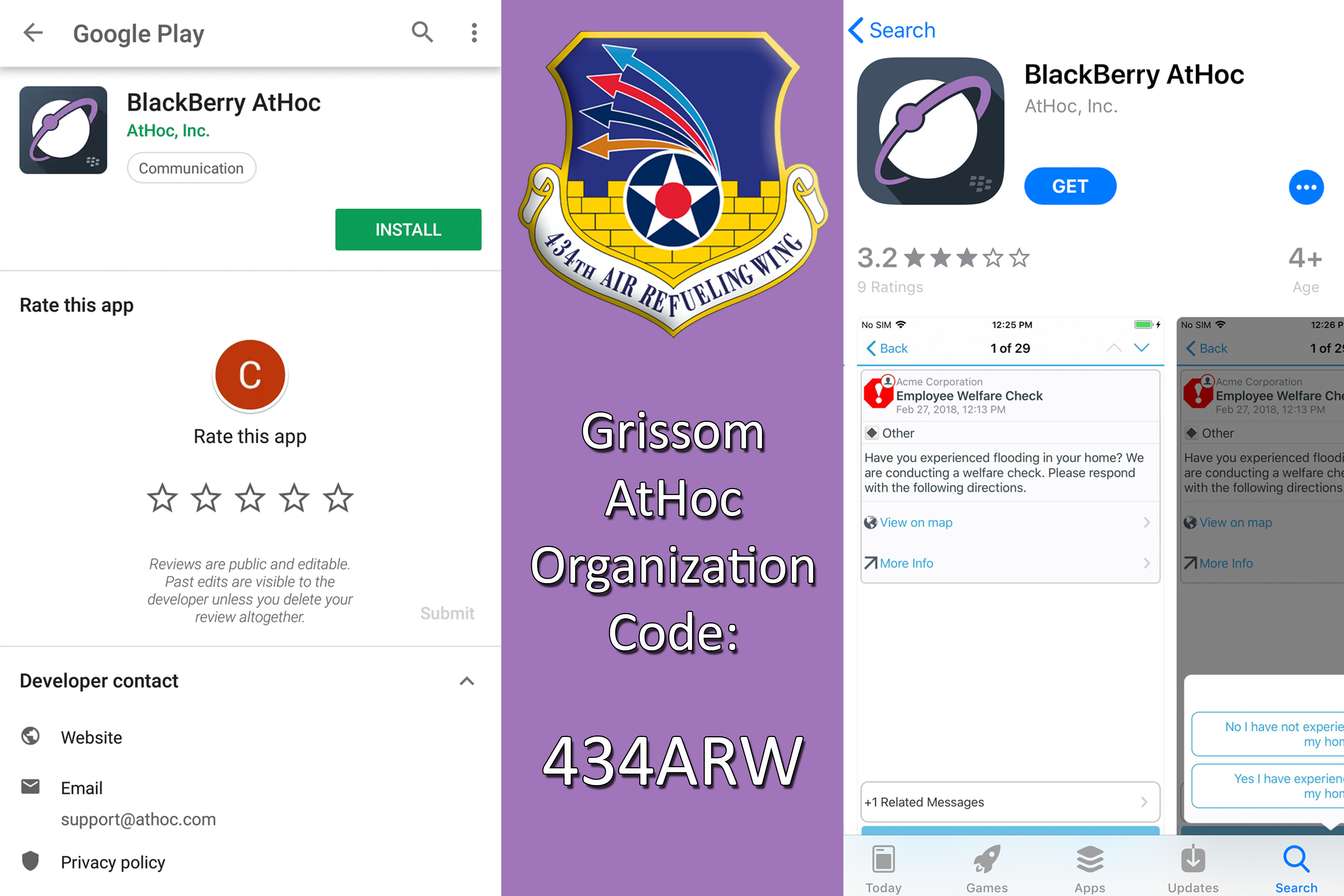 AtHoc alert system app now available to Grissom members > Grissom