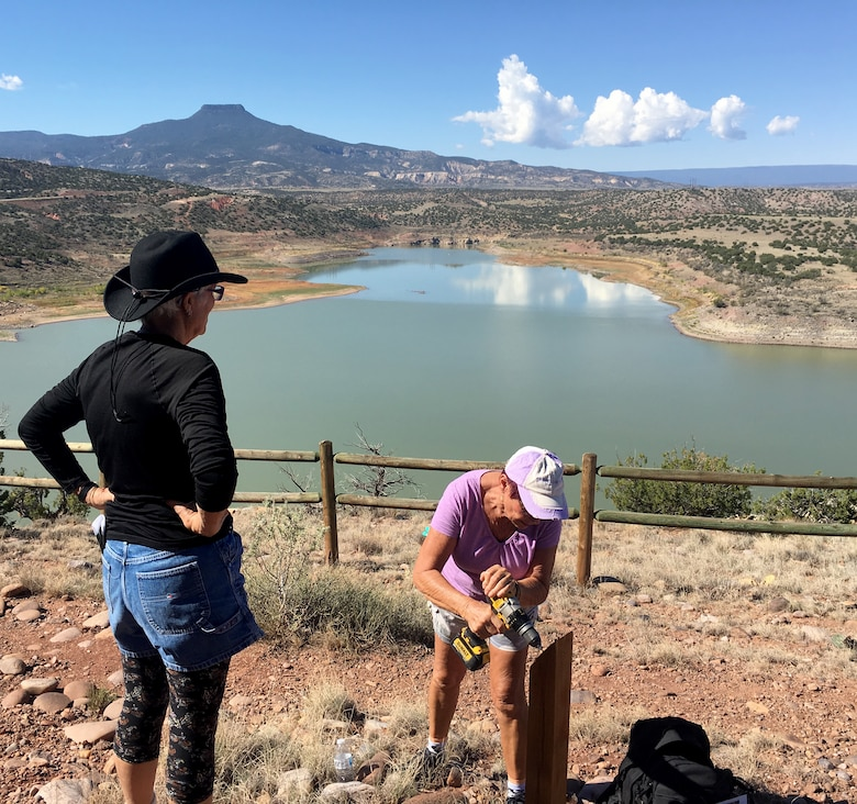 ABIQUIU LAKE, N.M. -- Volunteers assist with a trail marking project during the lake's National Public Lands Day event, Sept. 22, 2018.