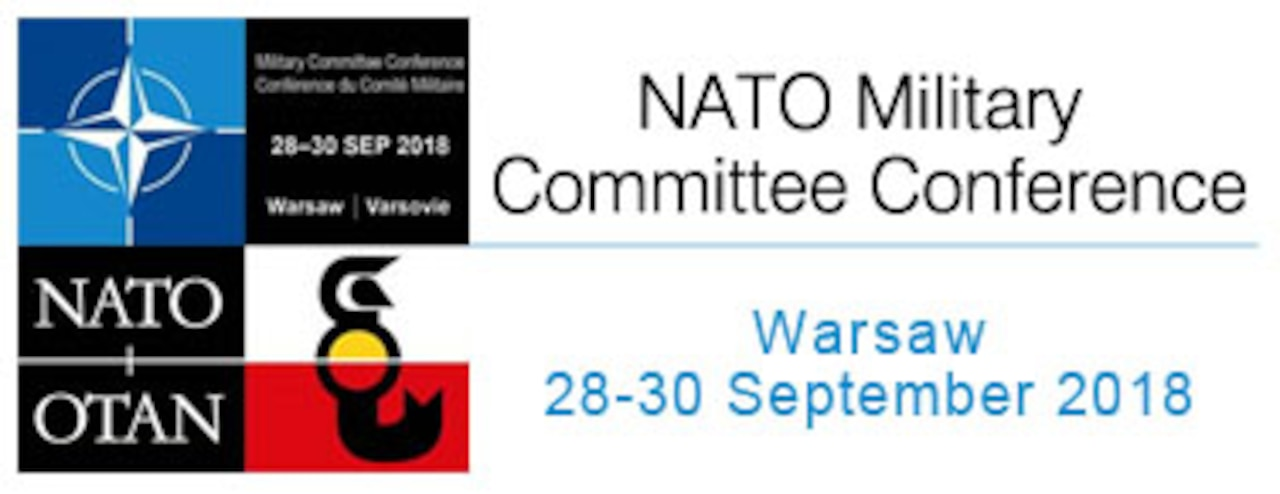 Emblem for the Sept. 28-30, 2018, NATO Military Committee Conference in Warsaw, Poland.