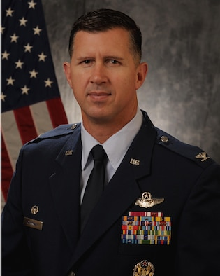 Official Biography Photography of Col. Jason Cockrum (U.S. Air Force photo by Manabu Matsuura)