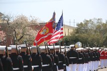 Marines with Marine Barracks Washington D.C., support a full honors funeral for retired Marine Lt. Col. Howard V. Lee, Medal of Honor recipient, at Colonial Grove Memorial Park, Virginia Beach, Virginia, March 30, 2019.