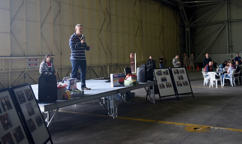 Colonel Britt Hurst, 39th Air Base Wing commander, provides opening remarks during Airman Appreciation Day, March 29, 2019, at Incirlik Air Base, Turkey.