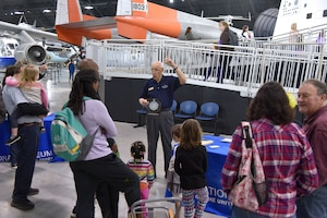 DAYTON, Ohio -- Students participating in Home School STEM Day on April 1, 2019, at the National Museum of the U.S. Air Force. Students enjoyed the guided tours, scavenger hunts, hands-on classes and aerospace demonstration stations. (U.S. Air Force photo)