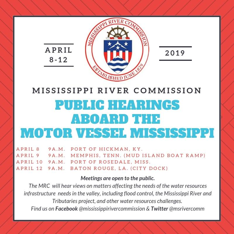 Mississippi River Commission schedules high-water inspection