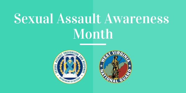 A graphic for the West Virginia National Guard's recognition of April as Sexual Assault Awareness Month.