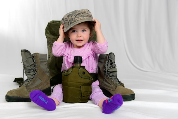 April is designated as the Month of the Military Child by the Department of Defense Education Activity. This awareness month was established to underscore the important role children play in the Armed Forces community. (U.S. Air Force photo by Joshua J. Seybert)