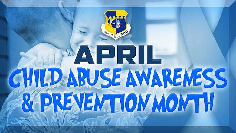 April Child Abuse Awareness and Prevention Month (U.S. Air Force graphic by James Rainier)
