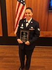 Senior Airman Sofia Espinoza, 628th Security Forces Squadron base armorer, was awarded the 2018 Junior Enlisted Woman of the Year award by the Palmetto Chapter of Women In Defense March 21, 2019. Espinoza was presented the award during the 9th annual Military Woman of Year event held at the Founders Hall at Charles Towne Landing, Charleston, S.C.