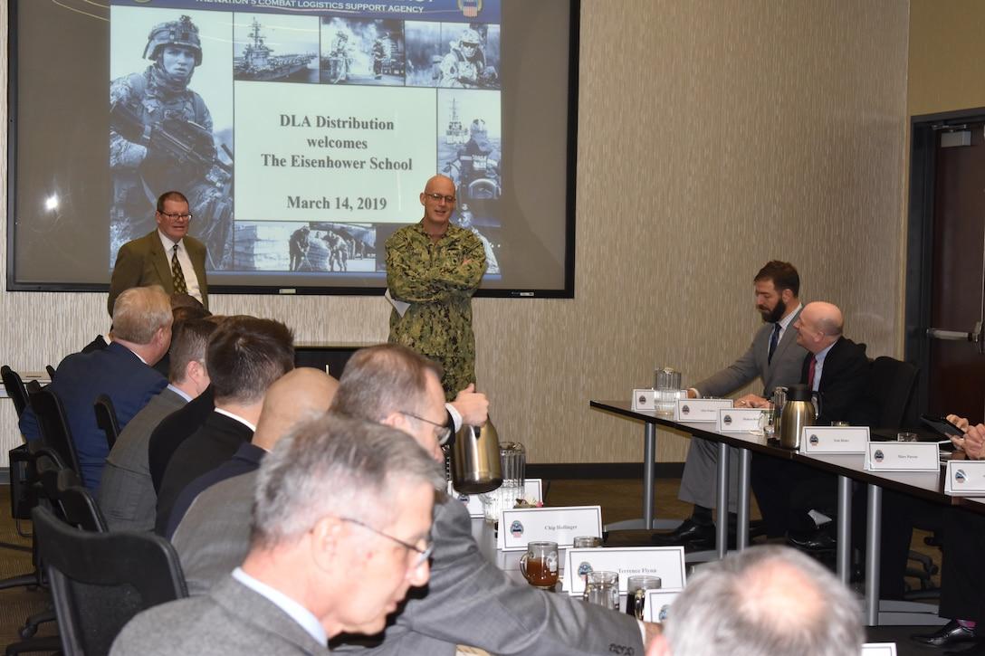 Eisenhower students talk logistics with DLA Distribution leaders, program alumni