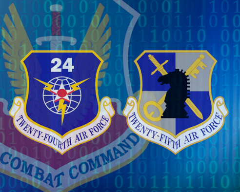 Twenty-Fourth and Twenty-Fifth Air Force Shield