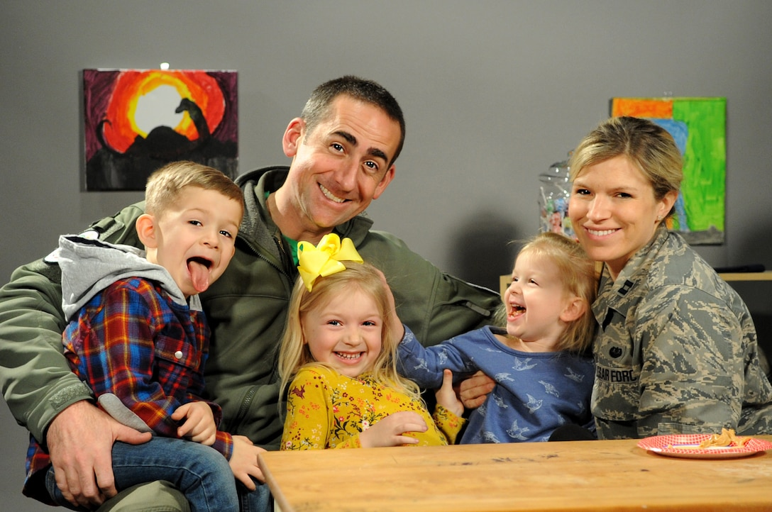 April is designated as the Month of the Military Child, highlighting the important role military children play in the armed forces community. It is a time to recognize military families and their children for the sacrifices they make, the resilience they display and the challenges they overcome. Today we highlight the Kreps family. Maj. Randy Kreps is an F-16 pilot and Capt. Kreps serves as the 180FW Staff Judge Advocate. (Air National Guard photo by Senior Master Sgt. Beth Holliker).