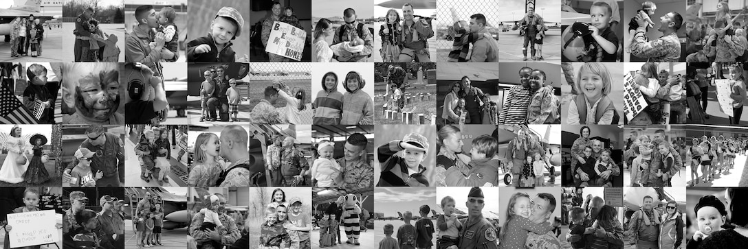 Month of the Military Child. Highlighting the important role military children play in the armed forces community. It is a time to recognize military families and their children for the sacrifices they make, the resilience they display and the challenges they overcome. A photo illustration made up of 48 images representing just a few of the best military kids who serve alongside of their parents assigned to the Ohio National Guard's 180th Fighter Wing. (Air National Guard Photo Illustration by Senior Master Sgt. Beth Holliker).