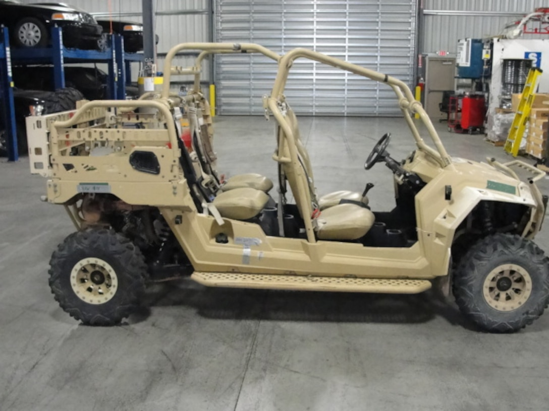 An all-terrain vehicle among the recent items shipped will help law enforcement officers reach remote areas.