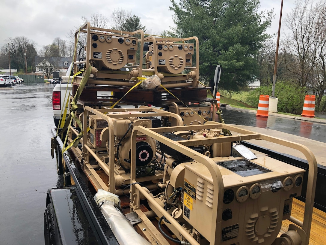 Generators arriving at the Putnam County Sheriff's Office await use at a new training facility or whenever they might be needed for disaster response and rural investigations.