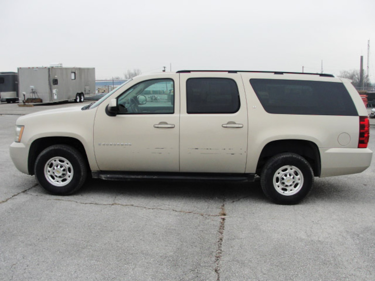 A Chevrolet Suburban prepares for new life in law enforcement as one of the vehicles Blue Grass provided to law enforcement agencies in Tennessee, Ohio, Kentucky, and New Jersey.