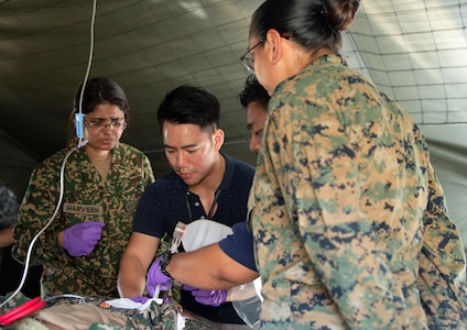 Malaysian Armed Forces Host Medical Evacuation Exercise During PP19