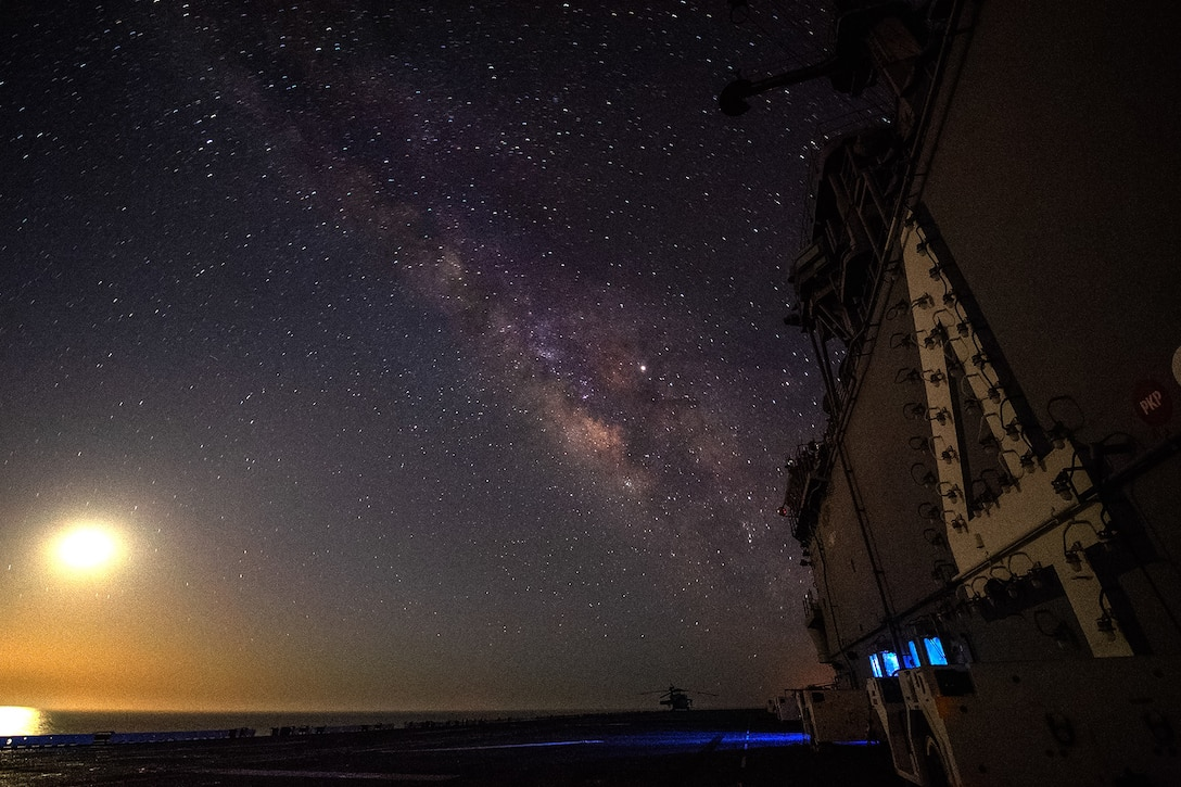 A ship transits the Pacific Ocean.