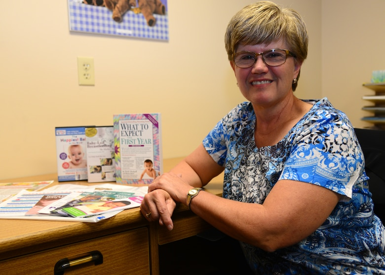 Helen Romeyn, the 28th Medical Operations Squadron New Parent Support Program manager, has been helping care for Ellsworth AFB families since 2003, providing useful information on prenatal growth, child development, parenting skills, promoting family bonding and more. (U.S. Air Force photo by Senior Airman Denise Jenson)