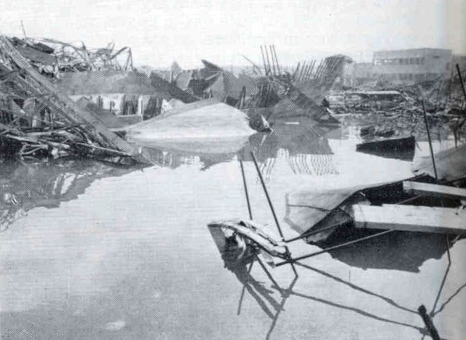 Debris in the port at Leghorn