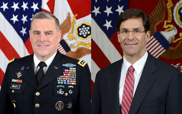 Gen. Mark A. Milley, Army Chief of Staff, and Mark T. Esper, Secretary of the Army
