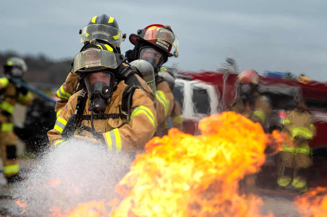 live-fire aircraft burn training