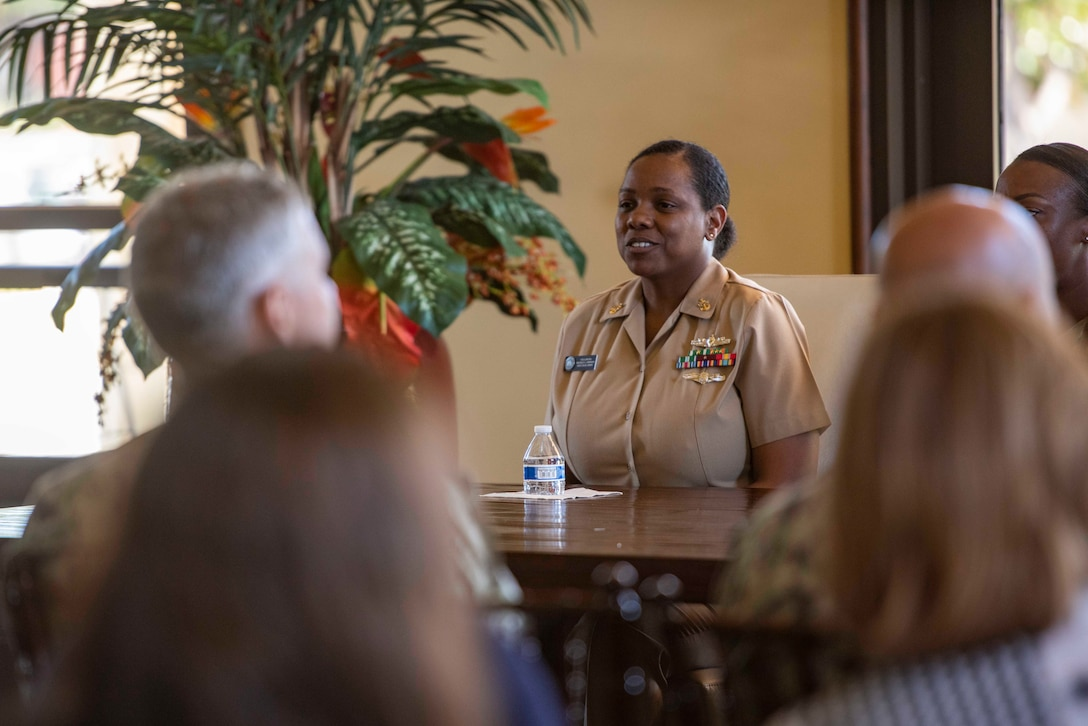 Senior Chief Yeoman Michele Johnson, assigned to Joint Base Pearl