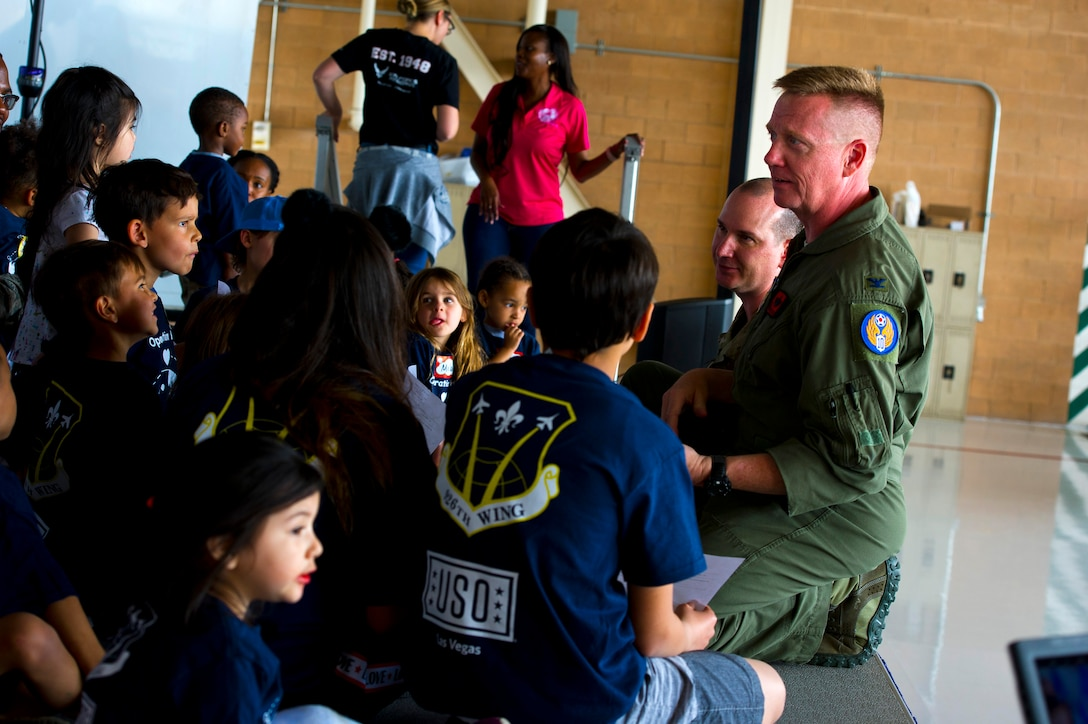 Operation HERO allowed nearly 100 children of 926th Wing reservists to participate in a simulated deployment line to learn what it is like for their parents to deploy. The event featured a mission briefing, candy from each station and an obstacle course.