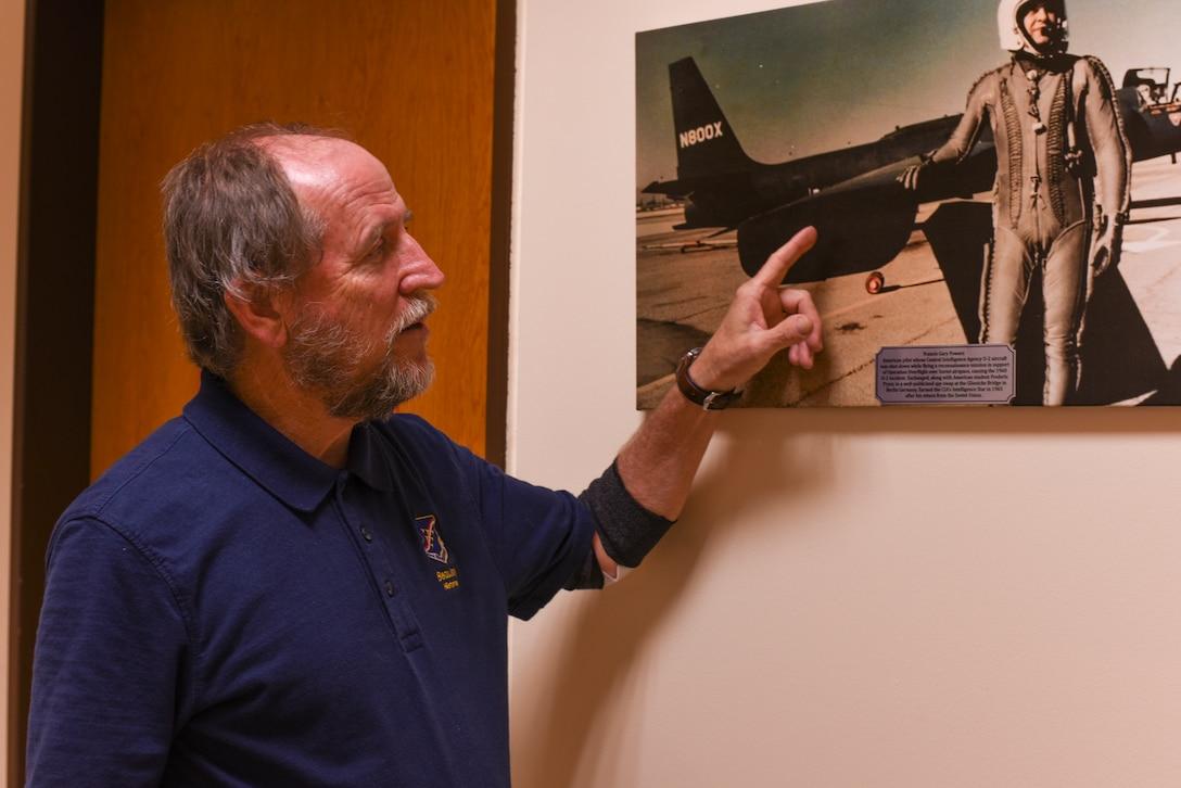 Jory Vanderburg, 39th Air Base Wing historian, tells the story of Maj. Gary Powers March 18, 2019, at Incirlik Air Base, Turkey.