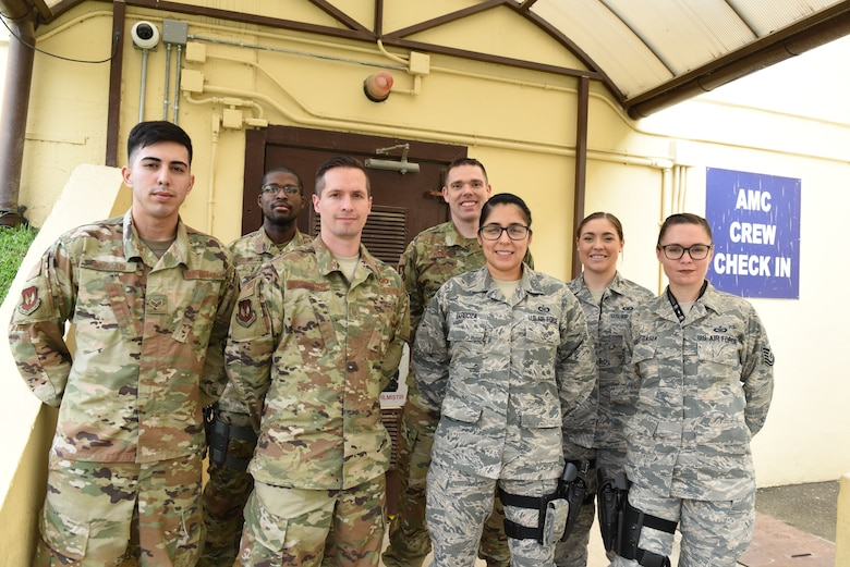 Command Post Controllers, pose for a photo April 3, 2019, at Incirlik Air Base, Turkey.
