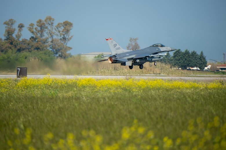 The 480th EFS is participating in INIOHOS 19, a Hellenic air force-led multinational flying exercise between Greece, the U.S. and partner nations including the NATO AWACS, Italy, and Israel