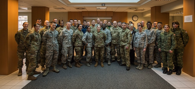 Military dental officers from NATO partners, allies, and partners for peace nations, attended a dental readiness workshop hosted by the USAFE-AFAFRICA Surgeon General March 25-29, 2019 at Ramstein Air Base, Germany.