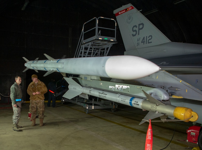 The Combat Shield teams worked over several nights to complete testing of the 52nd Fighter Wing's F-16 Fighting Falcons